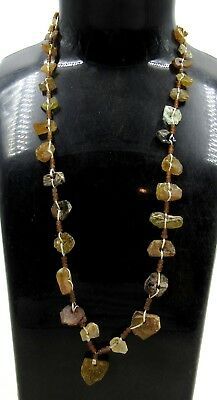 Authentic Ancient Roman Era Glass Beaded Necklace - H700