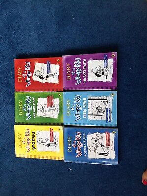 Diary Of A Wimpy Kid Collection Of 6 Paperback Books By Jeff Kinney