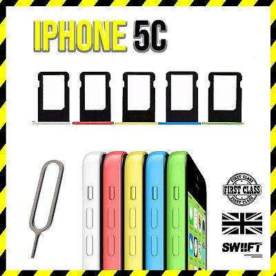 NEW Replacement Sim Card Tray Slot Holder Part For Apple iPhone 5c - All Colours