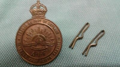 WWI RETURNED FROM ACTIVE SERVICE BADGE #200765 Stokes & Sons. MELB.