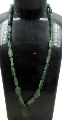 Authentic Ancient Roman Era Glass Beaded Necklace - H729