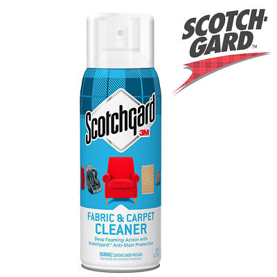 Scotchgard Fabric & Carpet Cleaner 14oz Deep Foam Action & Anti Stain Protection