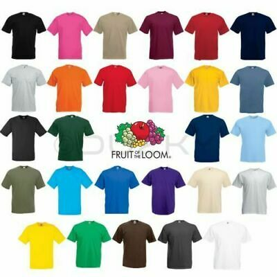3 or 5 PACK MENS FRUIT OF THE LOOM 100% COTTON PLAIN TEE SHIRT T SHIRT T-SHIRT