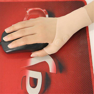 Silicone Gloves Gel Thumb Hand Wrist Support Arthritis Compression Brace one