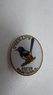Oriellys Green Mountains Blue Wren Bird Pin  Badge