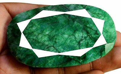 667ct Big Natural Oval Shape Green Emerald Faceted Loose Gemstone On Ebay