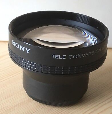 SONY Tele conversion lens x 2 VCL-2046C including Leather carry pouch