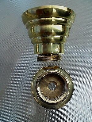 A Quality British Manufactured 22Mm Brass Oil Lamp Undermount Set.