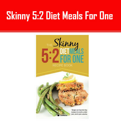 The Skinny 5:2 Diet Meals For One: Single Serving Fast Day Book Cook Nation NEW