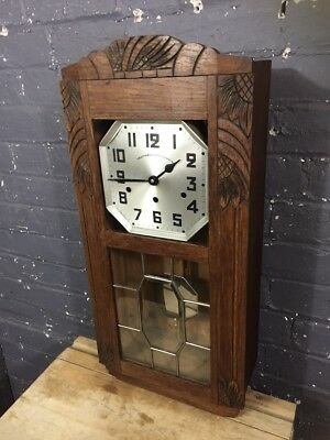 Gorgeous French Vintage Cabinet Wall Clock with Westminster Chimes, c 1930's