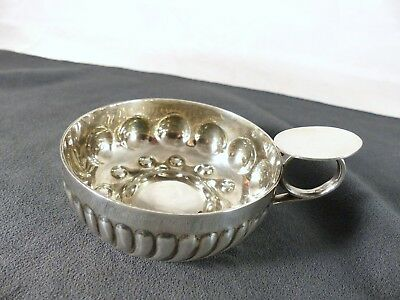 """Antique French Sterling Silver """"Tastevin"""" or Wine Tasting Cup BOULENGER 19th"""