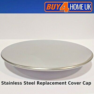 Stainless Steel Cover/Cap for 90mm High/Fast Flow Shower Waste for Shower Tray