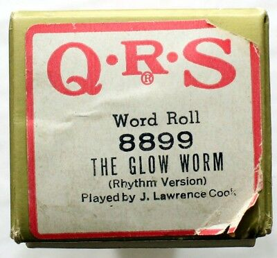 """J. LAWRENCE COOK """"The Glow Worm (Rhythm Version)"""" QRS 8899 [PIANO ROLL]"""