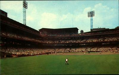 Baseball Stadium Postcard Forbes Field Pirates RONERTO CLEMENTE 21  Game Action