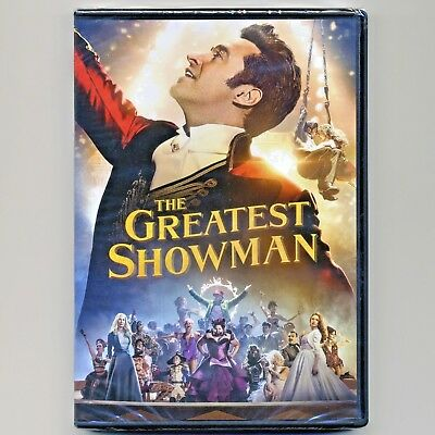 The Greatest Showman 2017 PG musical movie, new DVD, Hugh Jackman, Zac Efron