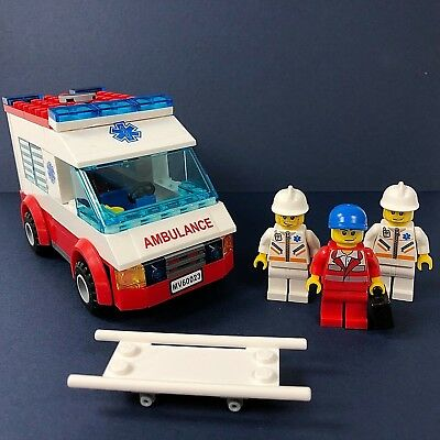 Lego City Lot: Ambulance & EMT Medical Rescue First Responders Lot w Minifigures