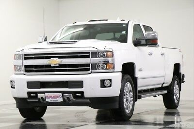2018 Chevrolet Silverado 2500 HD 3500 High Country Crew Cab 4X4 6.6L V8 Diesel Used HD 3500 Sunroof Navigation Heated Cooled Leather  4WD Diesel 17 2017 18