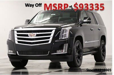 2019 Cadillac Escalade MSRP$93335 4X4 Premium Luxury Sunroof Black 4WD New Heated Cooled Leather Seats 22 In Rims DVD Player Camera GPS Nav 18 2018 19