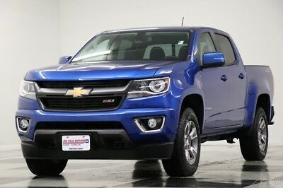 2018 Chevrolet Colorado 4X4 Z71 Leather Kinetic Blue Crew 4WD Like New Heated Seats Camera Bluetooth 2K Miles Remote Start 17 18 2017 16 Cab