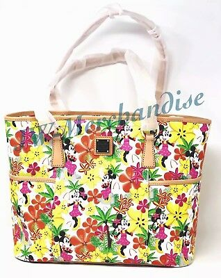 Disney Dooney & Bourke Aulani Floral Minnie Mouse Shopper Tote Purse New/Sealed