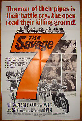 The Savage Seven-R.Rush-Motortcycle-Biker-AIP-R.Walker-OS (27x41 inch)