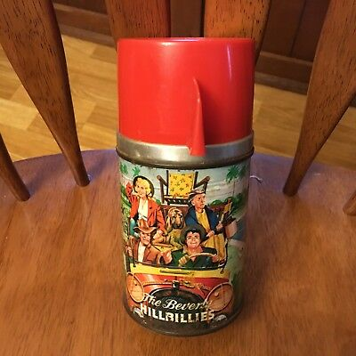 VINTAGE ~ 1963 Beverly Hillbillies Glass Bottle Thermos ~ Very Nice
