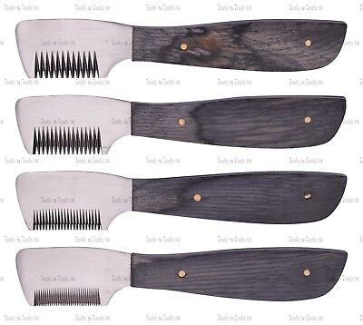 Multi Black Stripping Terriers Carding Knife Cat Dog Pet Grooming Comb 4 Piece