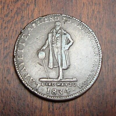 1835 Hard Times Token - Very Fine Details - Walsh's General Store - Collectible