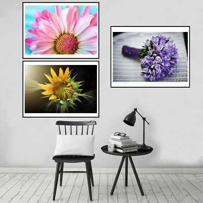 Modern Unframed Flower Art Canvas Print Home Wall Picture Poster Painting Decor