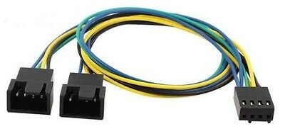 4 Pin PWM to 2 x 4 Pin PWM Power Y Splitter Adapter Cable for PC CPU Fan 33cm