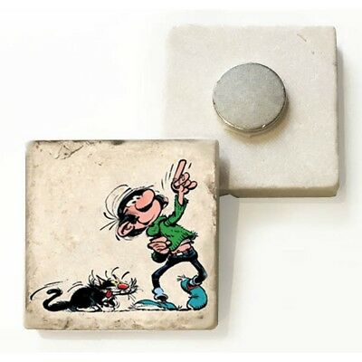 Plaque de marbre collection Gaston Lagaffe Regarde Là-haut (4,8x4,8cm)