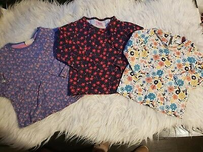 Girls 12-18 months long sleeve tops bundle x3 floral winter spring m&s next day