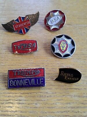 Mixed Vintage Job Lot Collection Of motorcycle Badges BSA Triumph Royal Enfield