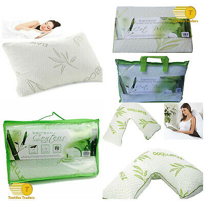 *NEW* Bamboo Memory Foam, Microfiber,Contour,Cot Bed,V Shape Spport Pillow