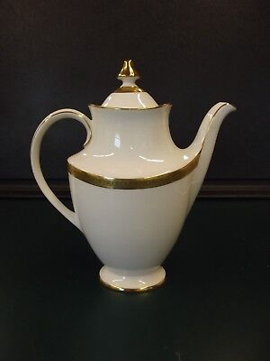 Royal Doulton ROYAL GOLD Coffee Pot with Lid Bone China H4980 A+ CONDITION