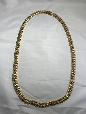 Miami Cuban Link Chain 18k Gold Plated Stainless Steel 10mm