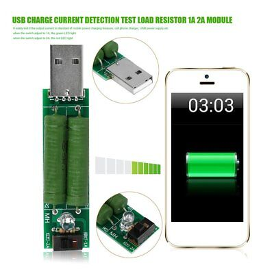 USB Charge Current Detection Test Load Resistor 1A 2A Module With Switch XB