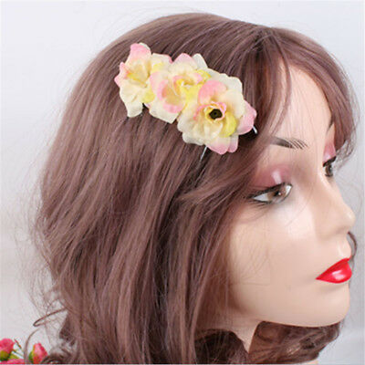 Fashion Sweet Simulation Flower Bride Hair Comb Headdress Hairpin Comb N7