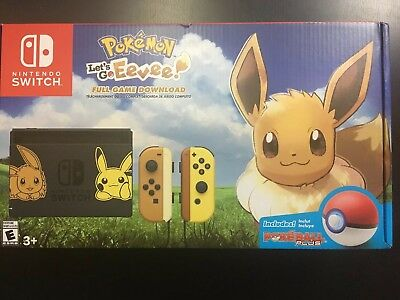 Nintendo Switch Pikachu & Eevee Edition with Pokemon: Let's Go, Eevee! Bundle
