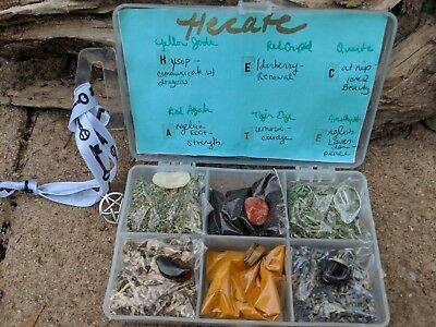 Beginners Wicca Witchcraft sample box of herbs & crystals HECATE mix