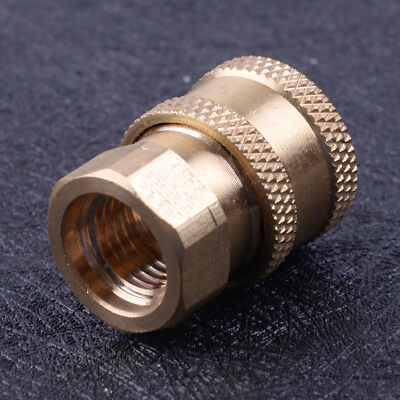 """New Pressure Washer 1/4"""" Female NPT Brass Quick Connect Socket Adapter Coupler"""