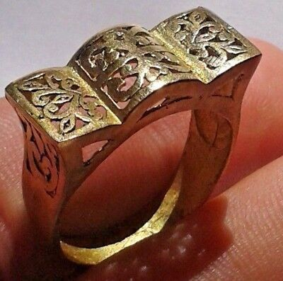EXTREMELY Ancient VIKING BRONZE Ring museum quality artifact VERY Stunning RARE