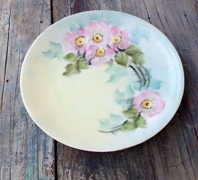 Thomas Sevres Porcelain Plate, Germany, Bavaria Pastel Flowers, Signed Sommers