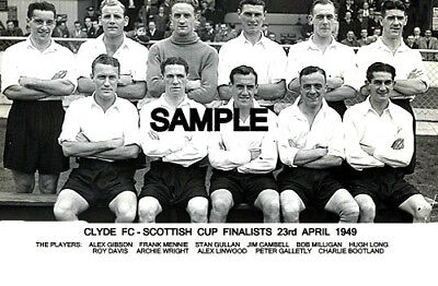 Clyde FC 1949 Cup Team Photo