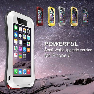 LOVE MEI Shock/Water Proof Alu Metal Glass Case Cover For iphone 6/6S HZ