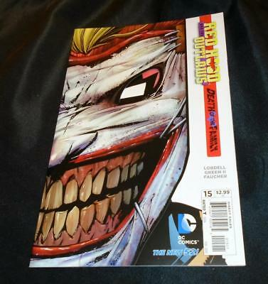 Red Hood & the Outlaws 15 (Batman) 2/2013 Death of the Family DieCut Joker Cover