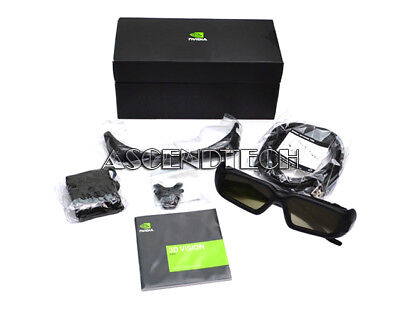 Genuine Dell Nvidia 3D Vision Pro Glasses Kit P703 4J8Td 942-50703-0100-003 Usa