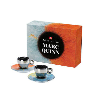 """ILLY ART COLLECTION   2 Espresso Cups Marc Quinn - """"Iris""""   Limited Edition"""