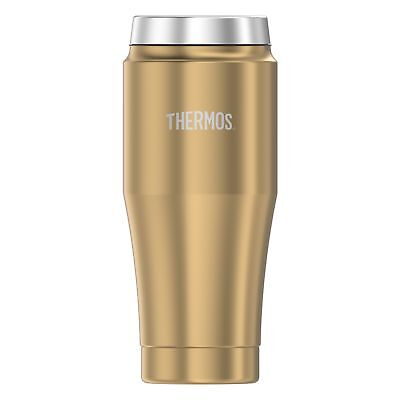 Thermos Vacuum Insulated Stainless Steel Travel Tumbler, 16-Ounce, Gold