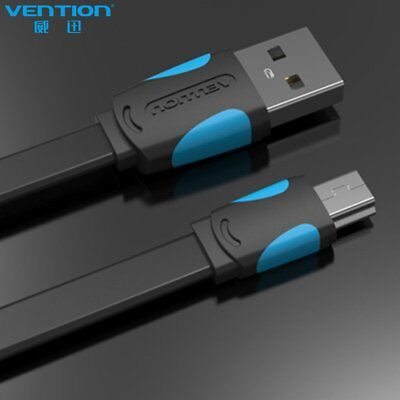 VENTION A14 USB 2.0 Male To Mini USB Cable Data Sync Charger Cable Flat Line DD